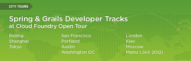 Spring and Grails Developers Sessions at Cloud Foundry Open Tour